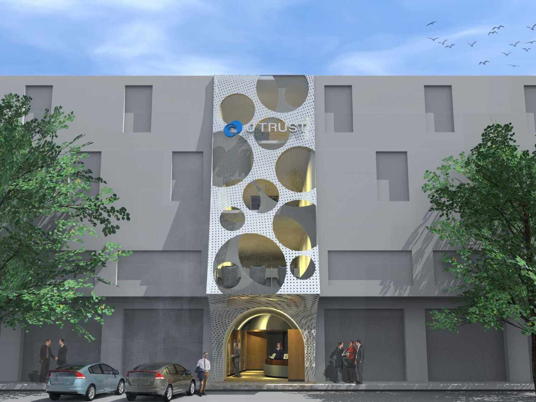 Monokroma Architect J Trust Bank Facade Jakarta Jakarta Front View Modern 14883