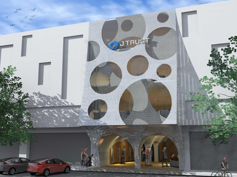 Monokroma Architect J Trust Bank Facade Jakarta Jakarta Front View Modern 14884