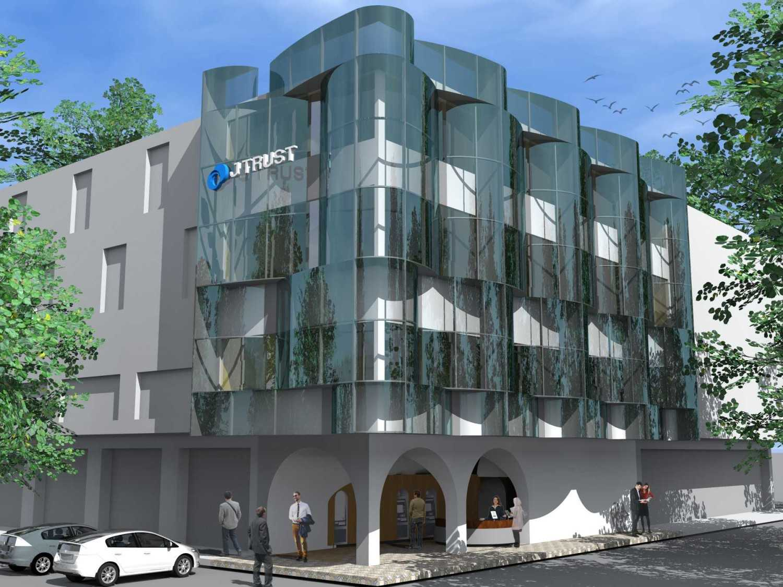 Monokroma Architect J Trust Bank Facade Jakarta Jakarta 14-Alternative-3-3 Modern 14895