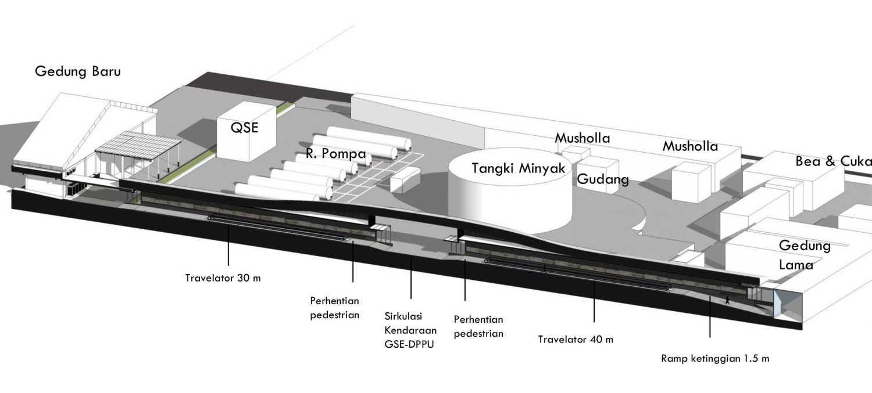 Monokroma Architect Adisutjipto Airport Terminal Connector Jogjakarta Jogjakarta 2-Perspective-Section Modern 15030