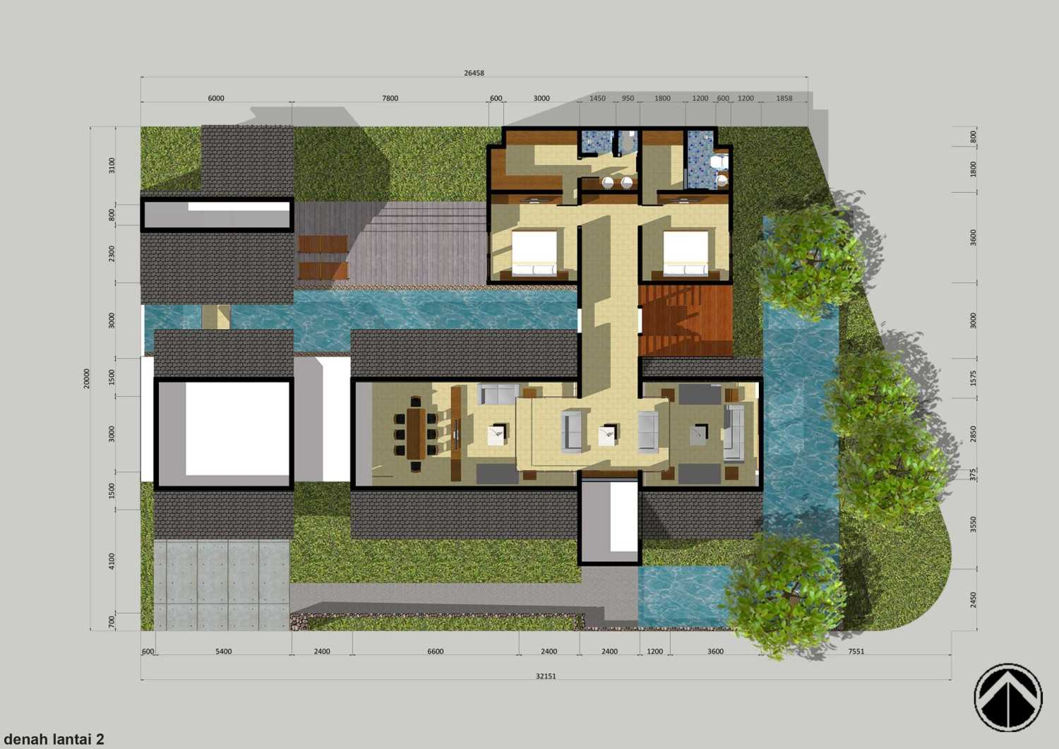 Monokroma Architect Puri Indah House Jakarta Jakarta 2-Draft-1-1St-Floor-Plan  15128