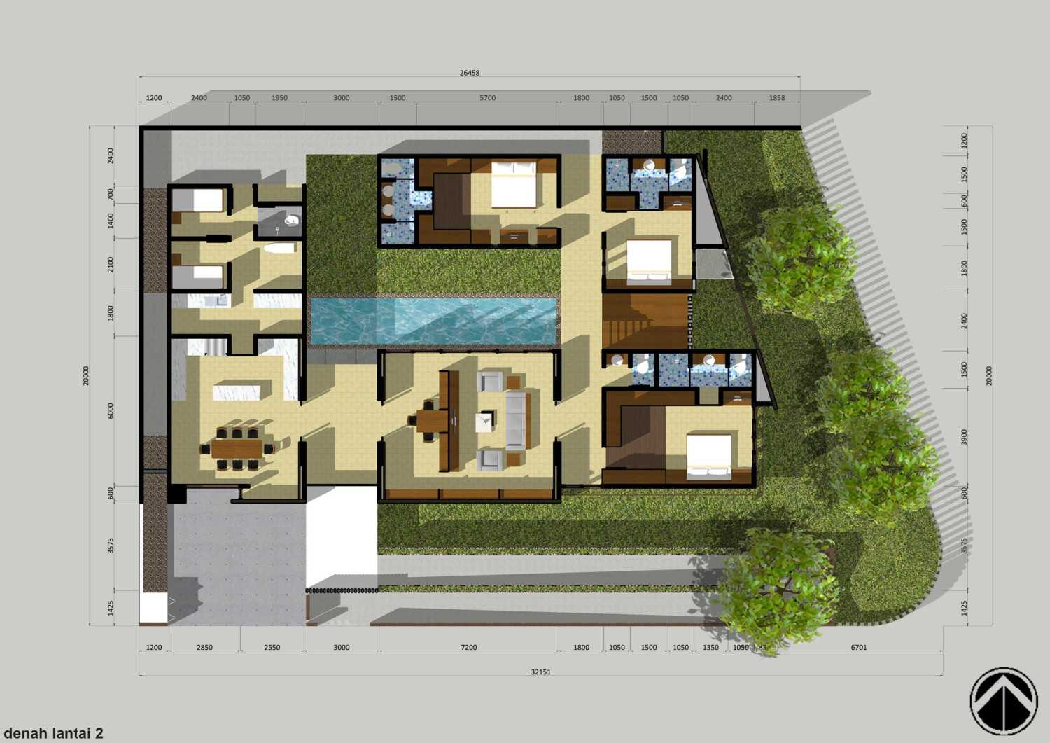 Monokroma Architect Puri Indah House Jakarta Jakarta 12-Draft-2-1St-Floor-Plan  15138