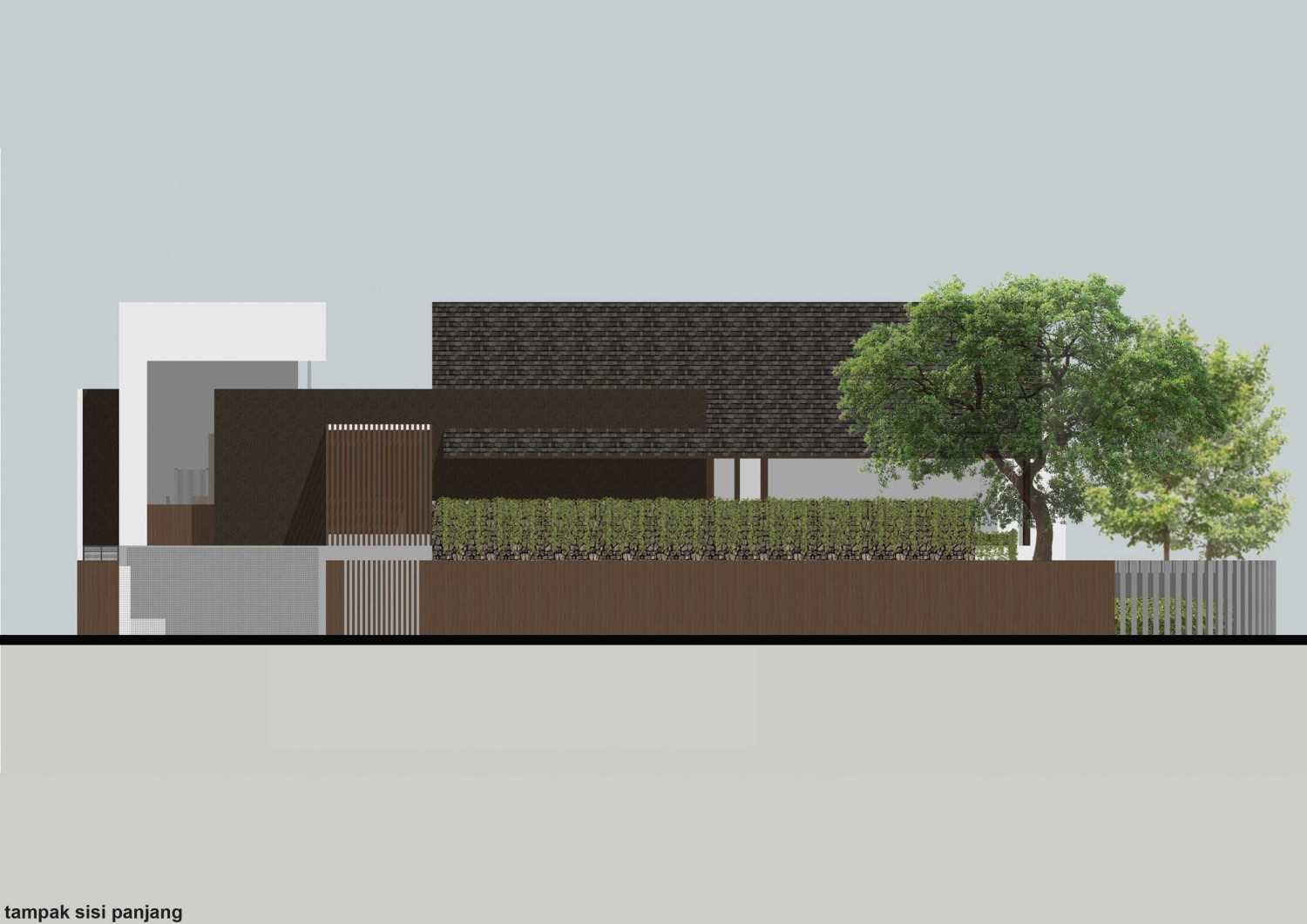 Monokroma Architect Puri Indah House Jakarta Jakarta 18-Draft-2-South-Elevation  15144