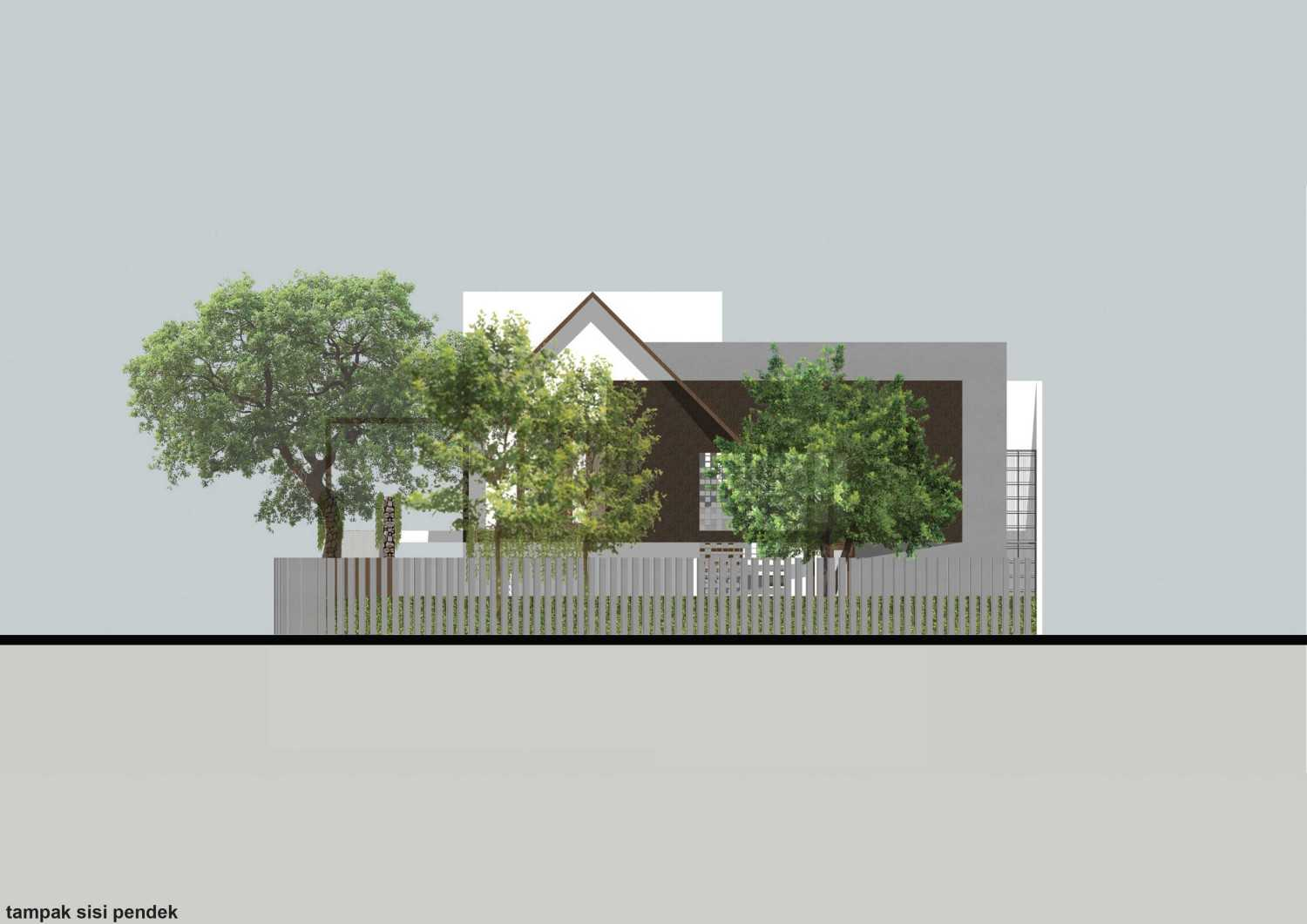 Monokroma Architect Puri Indah House Jakarta Jakarta 19-Draft-2-East-Elevation  15145