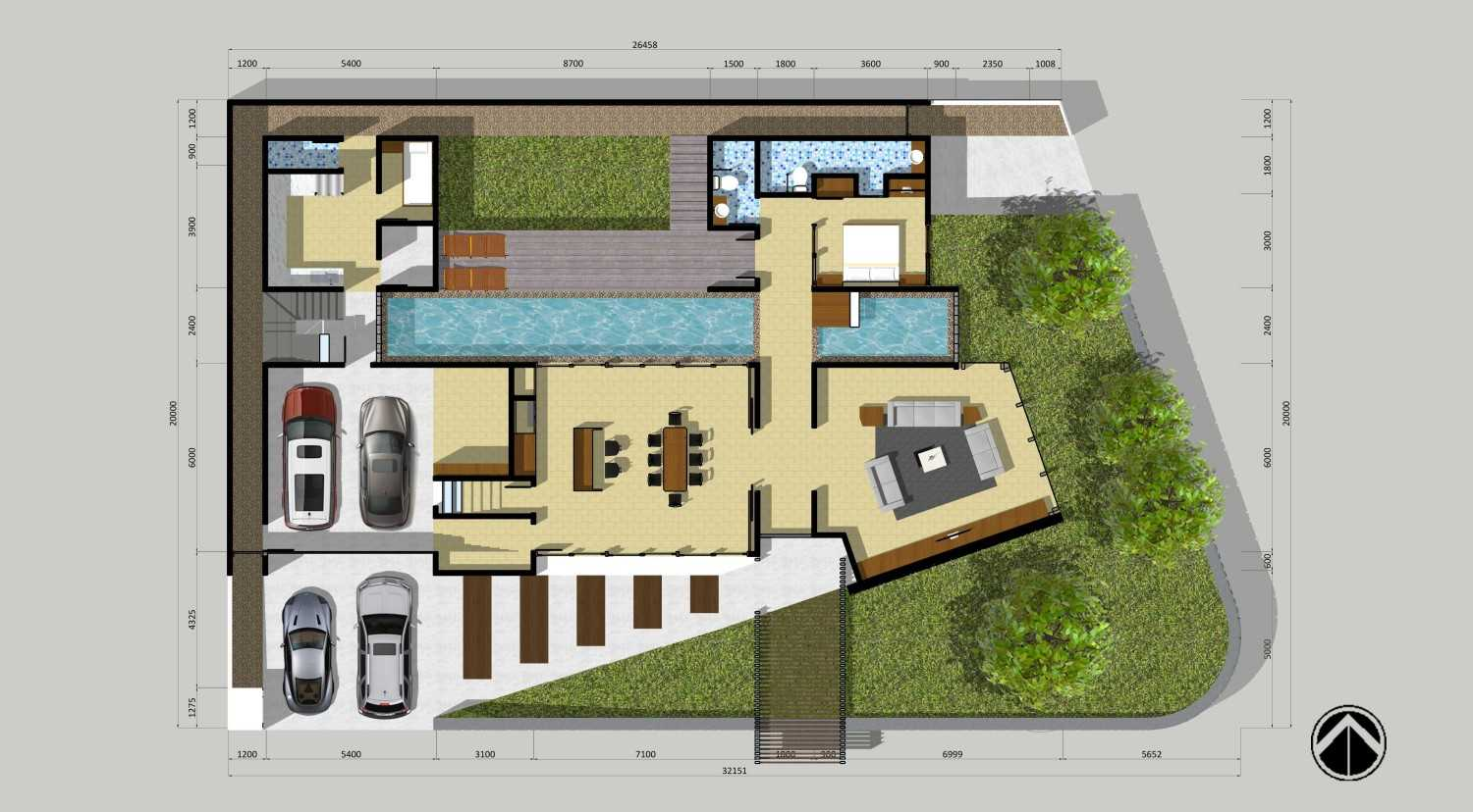 Monokroma Architect Puri Indah House Jakarta Jakarta 22-Final-Ground-Floor-Plan  15148