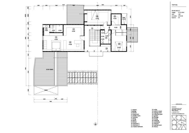Monokroma Architect Cijantung House Jakarta Jakarta Plan-Extended-Model  852