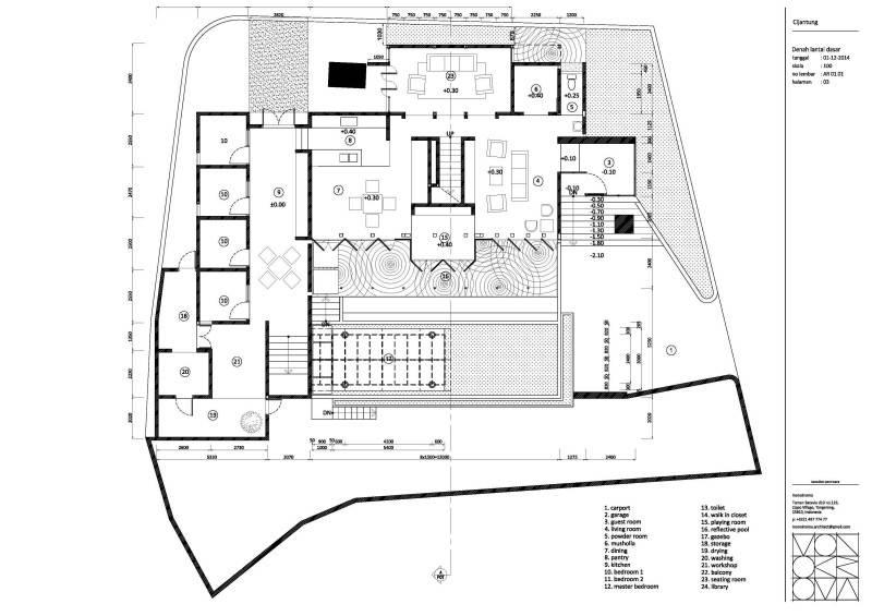 Monokroma Architect Cijantung House Jakarta Jakarta Plan-Extended-Model  853