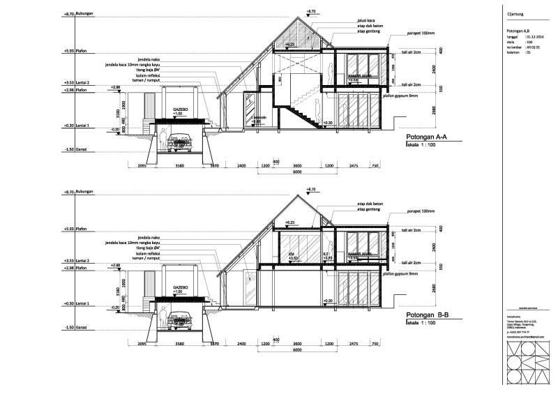 Monokroma Architect Cijantung House Jakarta Jakarta Plan-Extended-Model-3  854