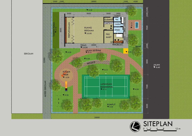Monokroma Architect Rptra Kemuning Jakarta, Indonesia Jakarta, Indonesia 6-Site-Plan Minimalis 24676
