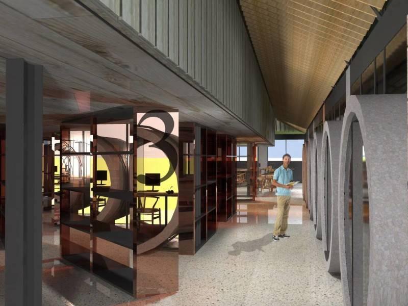Monokroma Architect Bali Culinary Pastry School Bali Bali Library Industrial 543