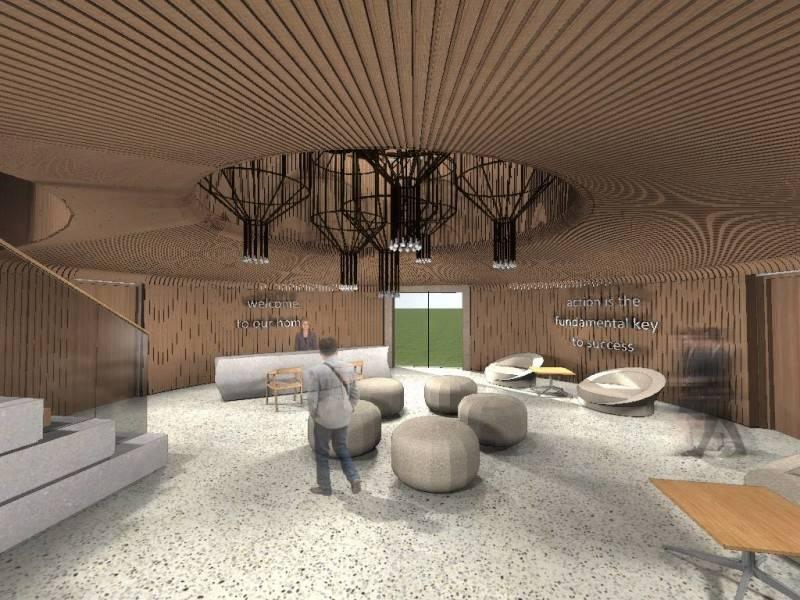 Monokroma Architect Bali Culinary Pastry School Bali Bali Lobby Industrial 546