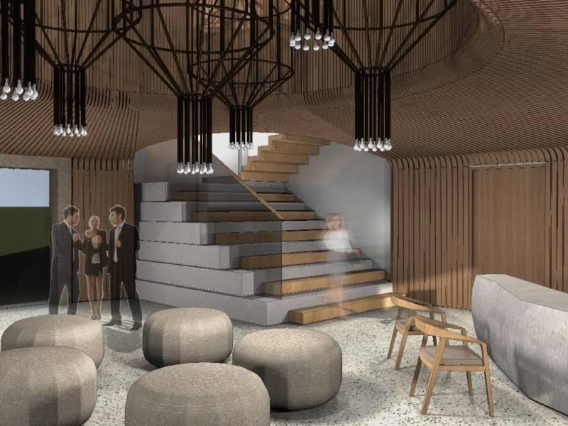 Foto inspirasi ide desain tangga industrial Lobby oleh Monokroma Architect di Arsitag