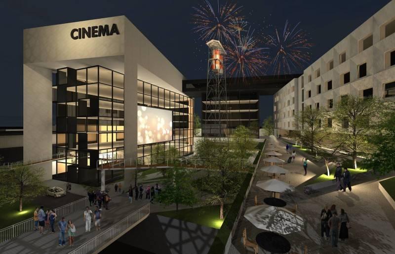 Monokroma Architect Pfn Movie Complex Jakarta Jakarta Night Perspective Modern 528