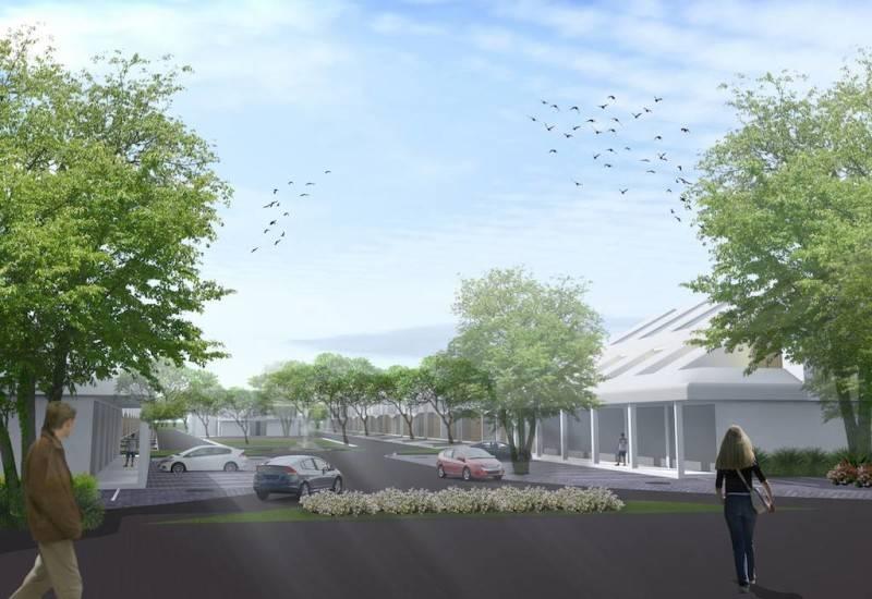 Foto inspirasi ide desain pintu masuk kontemporer Entrance oleh Monokroma Architect di Arsitag