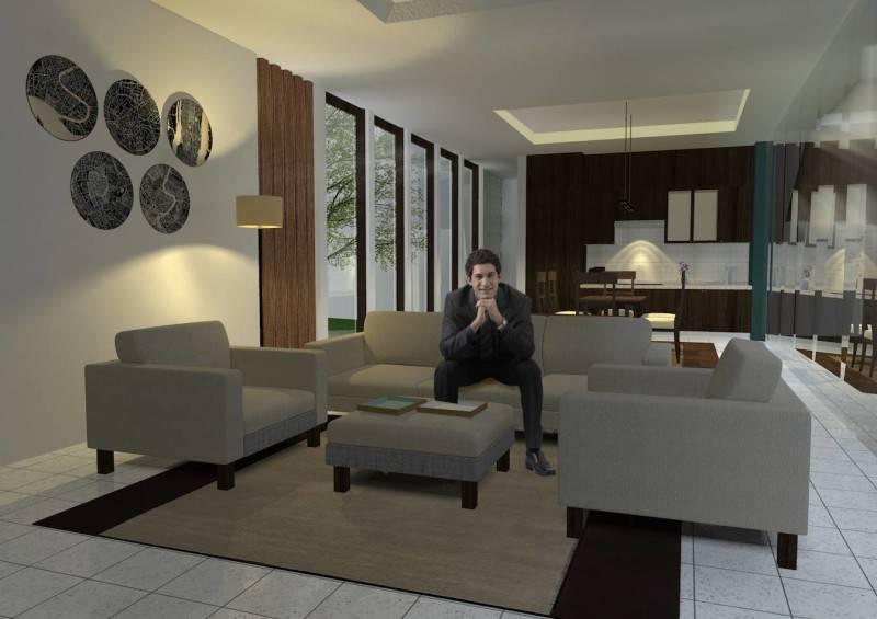 Monokroma Architect Banjarbaru Residence Indonesia Indonesia Living Room Kontemporer 564