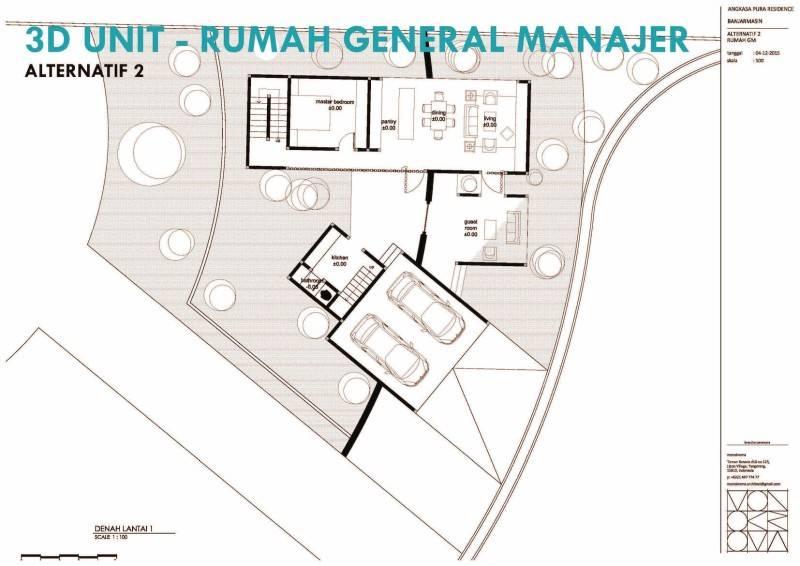 Monokroma Architect Banjarbaru Residence Indonesia Indonesia Denah Modern 571