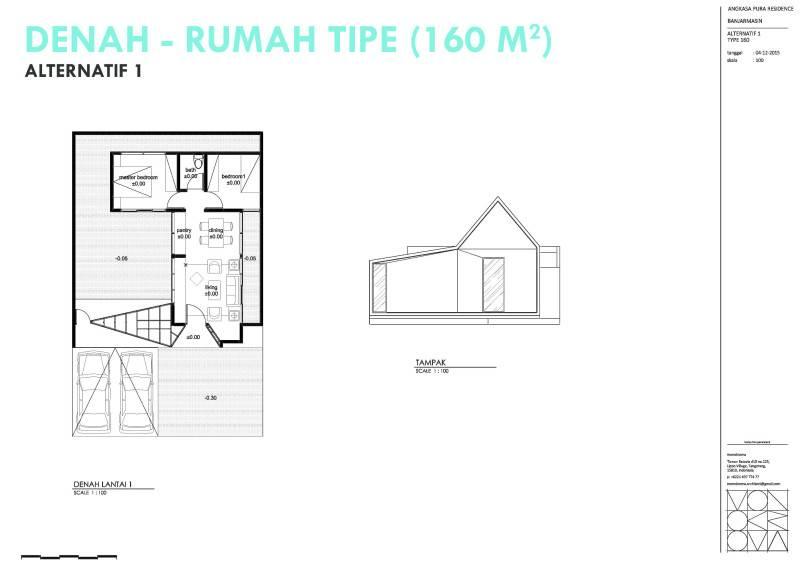 Monokroma Architect Banjarbaru Residence Indonesia Indonesia Denah Modern 574