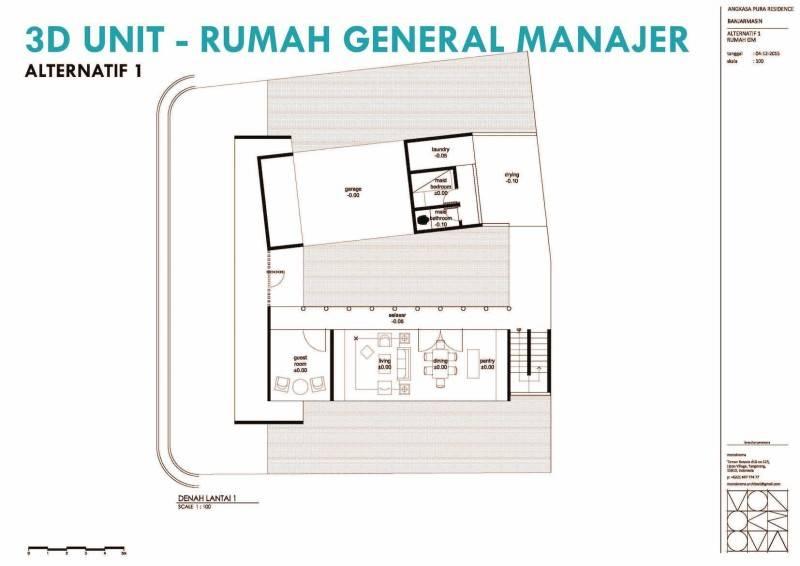 Monokroma Architect Banjarbaru Residence Indonesia Indonesia Denah Modern 576