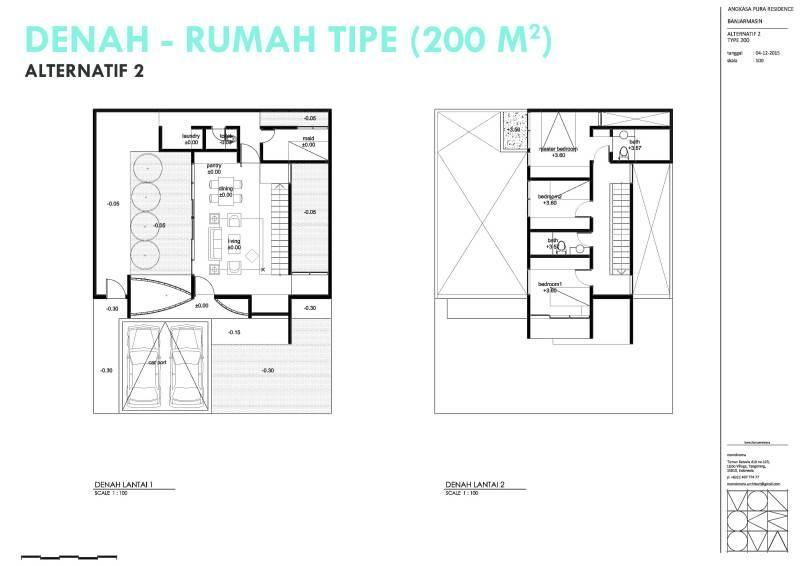 Monokroma Architect Banjarbaru Residence Indonesia Indonesia Denah Modern 577