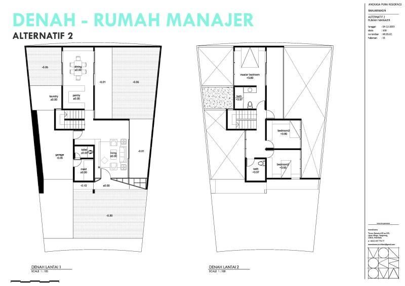 Monokroma Architect Banjarbaru Residence Indonesia Indonesia Denah Modern 578
