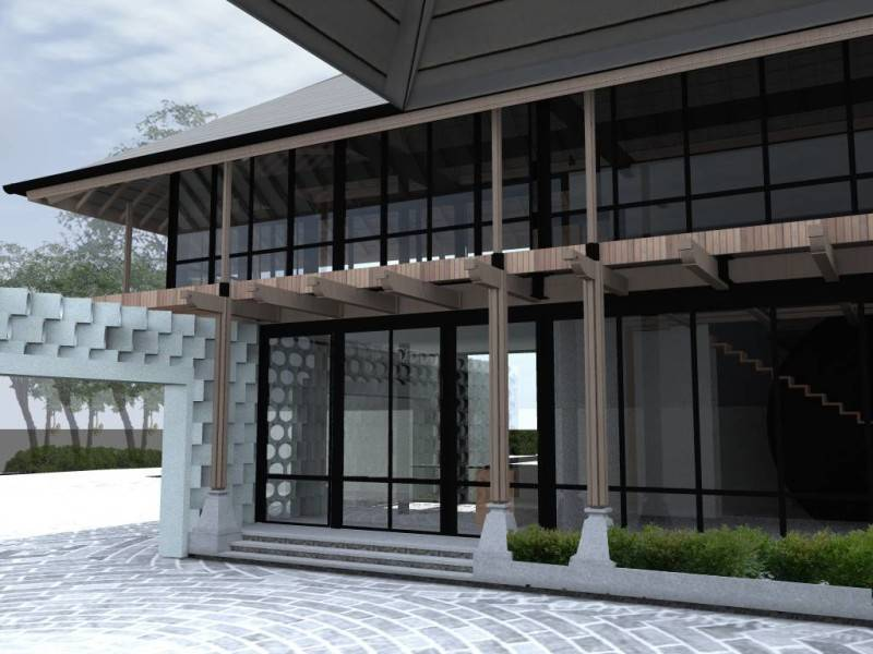 Foto inspirasi ide desain exterior industrial Scene-3 oleh Monokroma Architect di Arsitag