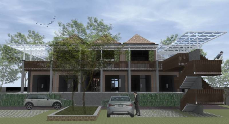 Monokroma Architect Alun Alun Jimbaran Jimbaran, Bali Jimbaran, Bali Facade Industrial 583
