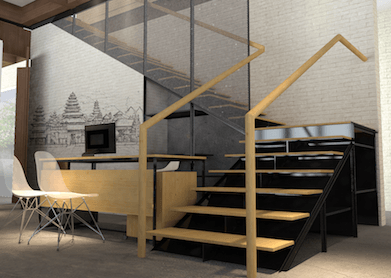 Monokroma Architect Saka Agung Abadi Indonesia Indonesia Stairs Modern 609