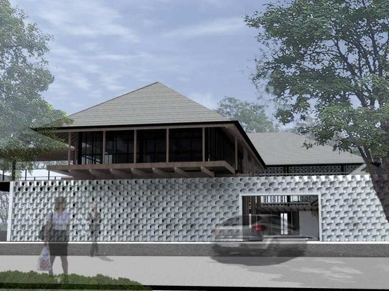 Monokroma Architect Saka Agung Abadi Indonesia Indonesia Entrance Modern 618