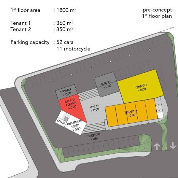 Monokroma Architect Trampoline Arena Serpong Serpong Pre-Concept-Trampoline-Arena Modern 597