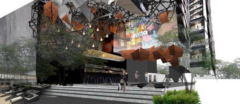 Foto inspirasi ide desain exterior tropis Facade oleh Monokroma Architect di Arsitag