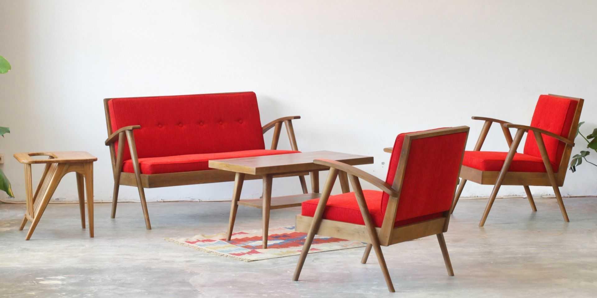 Sofas Avvana Living Set Red Fabelio oleh FABELIO - ARSITAG on