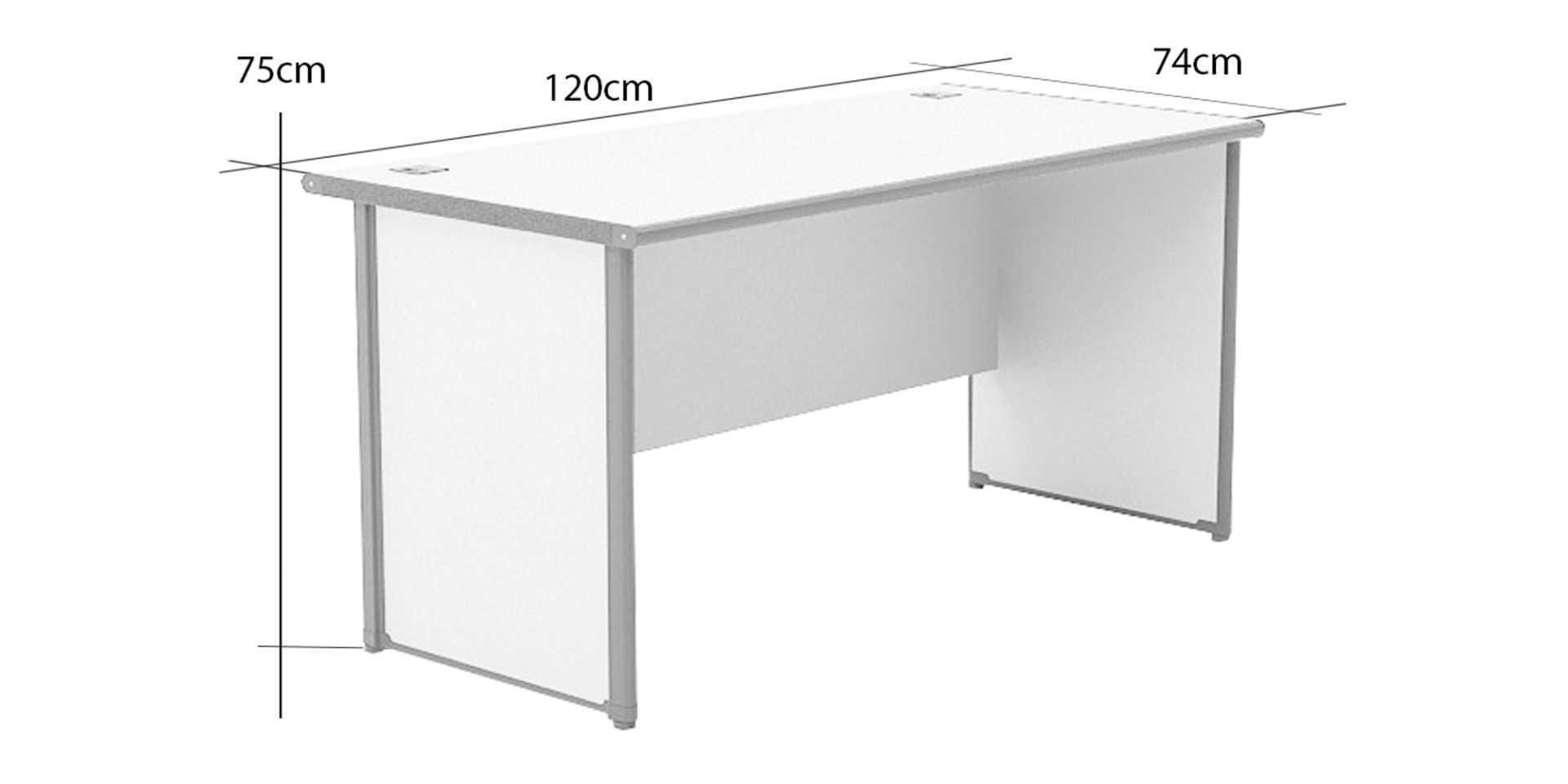 Office Desks One Working Desk Type B Small Fabelio Oleh Fabelio Arsitag