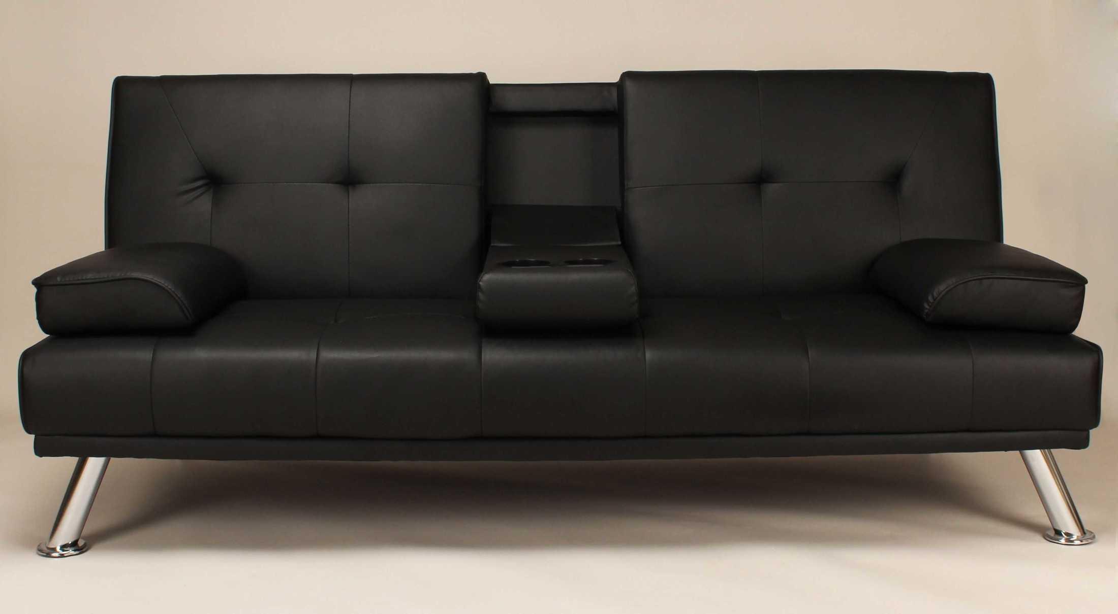 sofas dabi sofa bed black fabelio oleh pt tiga elora nusantara