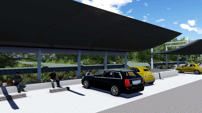 Foto inspirasi ide desain garasi modern Area-parkir oleh Digo Prima Kurniawan di Arsitag