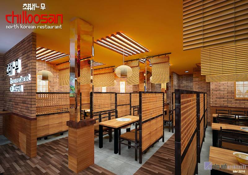 Foto inspirasi ide desain ruang makan tradisional Revisichilbosan-lt11 oleh irfanwidi architects di Arsitag