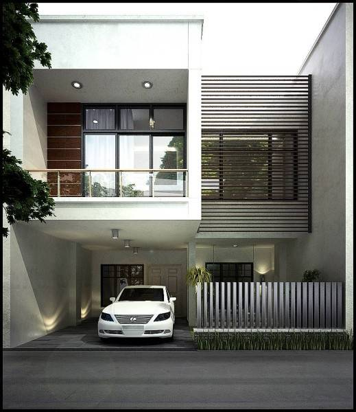 Emilia Oei White Box Residence Medan, Indonesia Medan, Indonesia Front View  5740