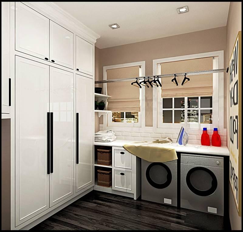 Foto inspirasi ide desain laundry Laundry area oleh emilia oei di Arsitag