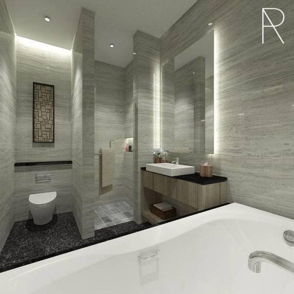 Ra Interior Architecture Deva Mahenra House Kebagusan, Jakarta Selatan Kebagusan, Jakarta Selatan Bathroom  5423