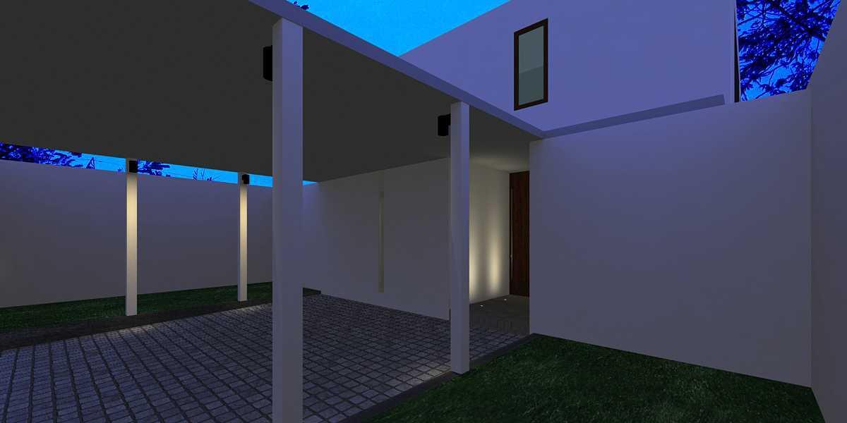 Foto inspirasi ide desain garasi tropis Carport oleh HerryJ Architects di Arsitag