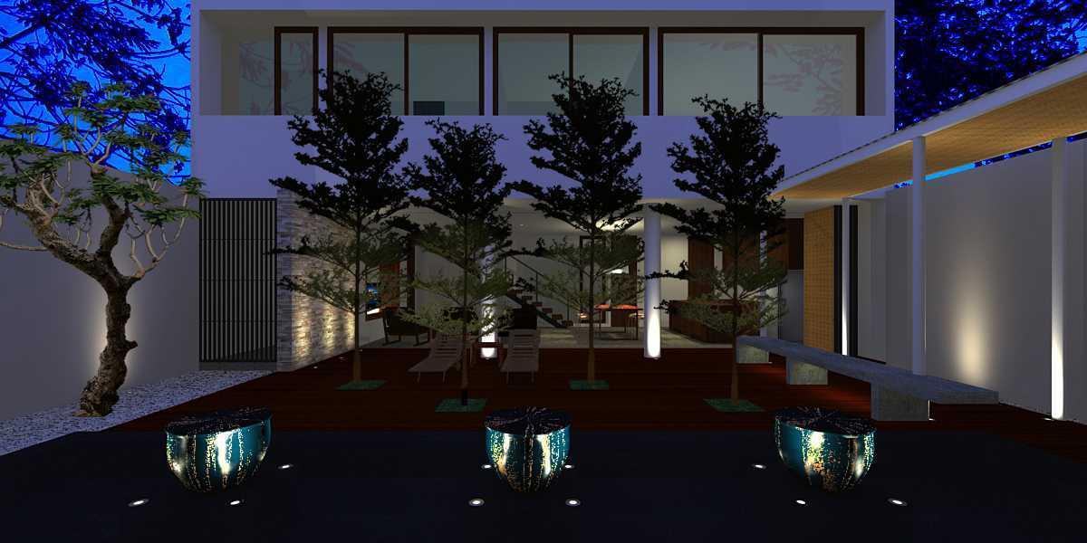 Herryj Architects Pilar House Kedoya Kedoya Blok-B2-Buka-Pintu Tropis 23983