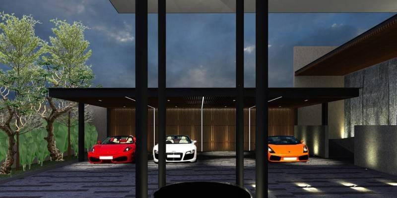 Foto inspirasi ide desain garasi kontemporer Garage oleh HerryJ Architects di Arsitag