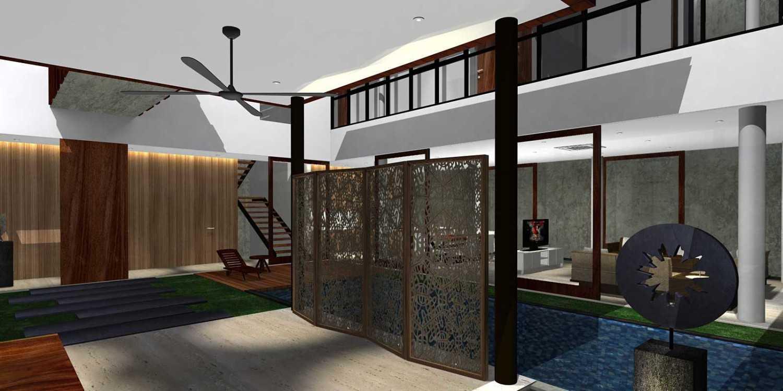 Herryj Architects Bridge House Jakarta, Indonesia Jakarta, Indonesia Foyer Minimalis 23899