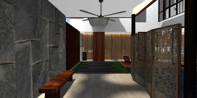 Herryj Architects Bridge House Jakarta, Indonesia Jakarta, Indonesia Foyer01 Minimalis 23900