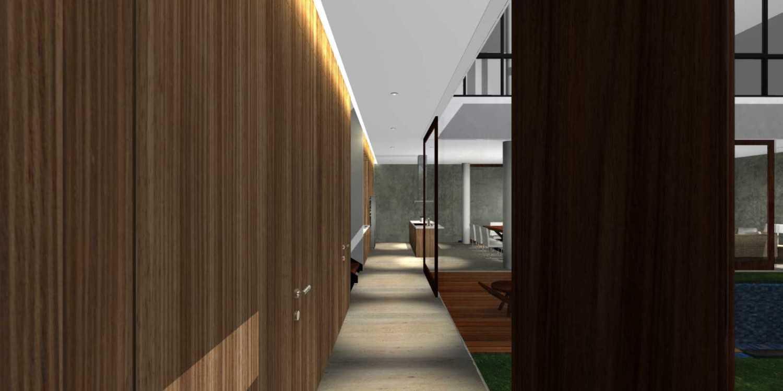 Herryj Architects Bridge House Jakarta, Indonesia Jakarta, Indonesia Koridor Minimalis 23901