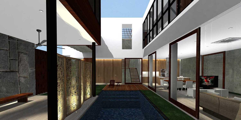 Herryj Architects Bridge House Jakarta, Indonesia Jakarta, Indonesia Pool-View Minimalis 23905