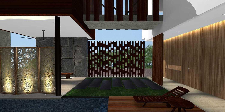 Foto inspirasi ide desain rumah kontemporer Wood-partition oleh HerryJ Architects di Arsitag