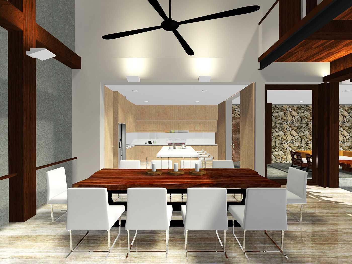 Foto inspirasi ide desain ruang makan tropis 8dining oleh HerryJ Architects di Arsitag