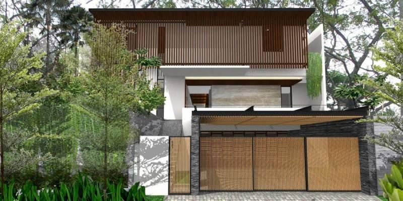 Herryj Architects Katamaran House Jakarta, Indonesia Jakarta, Indonesia Front-View Tropis 5490