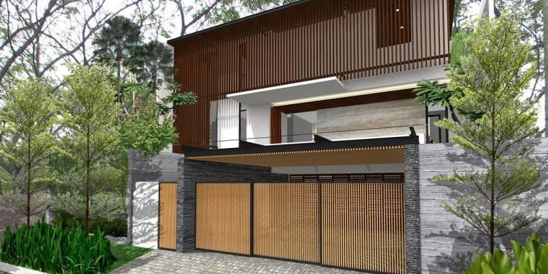 Herryj Architects Katamaran House Jakarta, Indonesia Jakarta, Indonesia Front-View-2 Tropis 5491