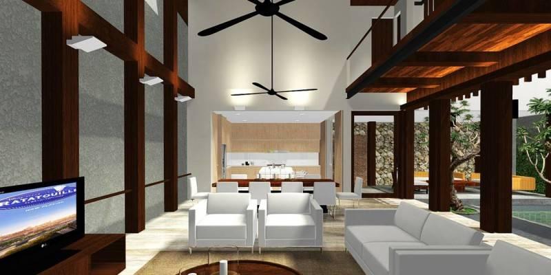 Foto inspirasi ide desain ruang keluarga tropis Living-room oleh HerryJ Architects di Arsitag